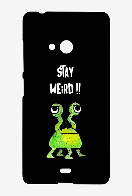 Kritzels Stay Weird Black Case for Microsoft Lumia 540