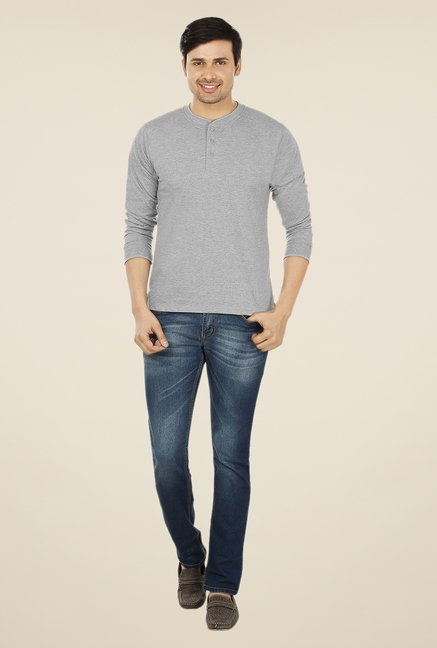 Weardo Grey Henley T Shirt