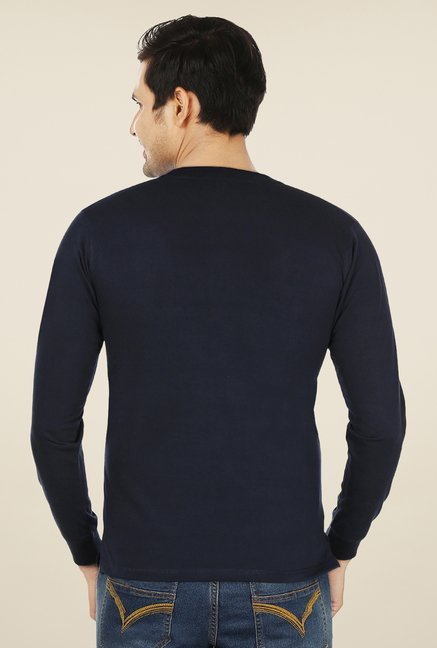 Weardo Navy Henley T Shirt