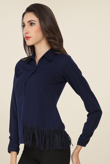 Soie Navy Solid Top