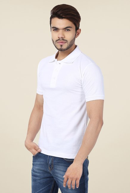 Weardo White Polo T Shirt