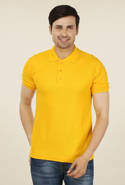 Weardo Yellow Polo T Shirt