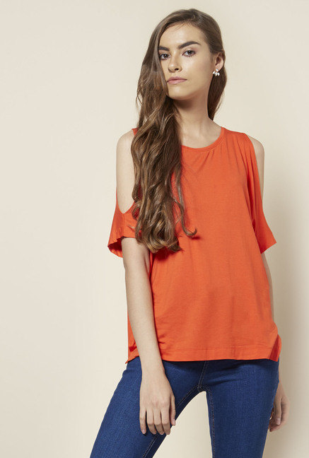 New Look Orange Relaxed Fit Top