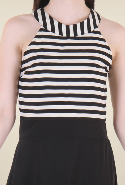 Hotberries Black Striped Dress
