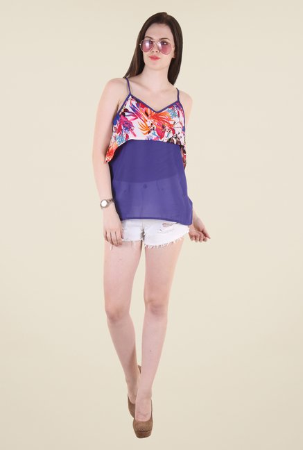Hotberries Blue Printed Top