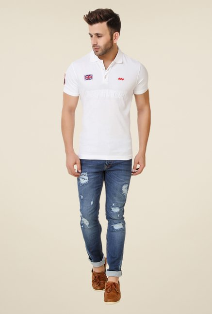 Spunk White City Polo T-shirt