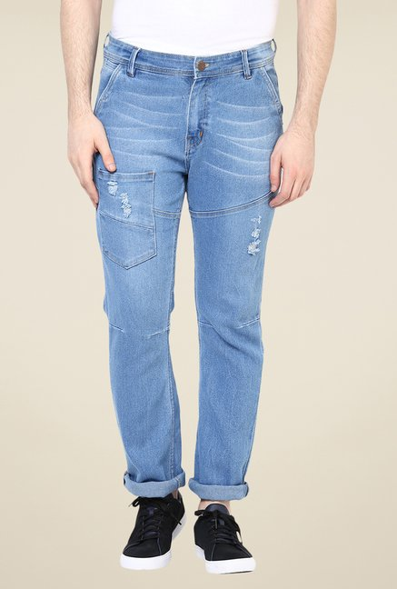 Yepme Light Blue Southee Light Wash Jeans