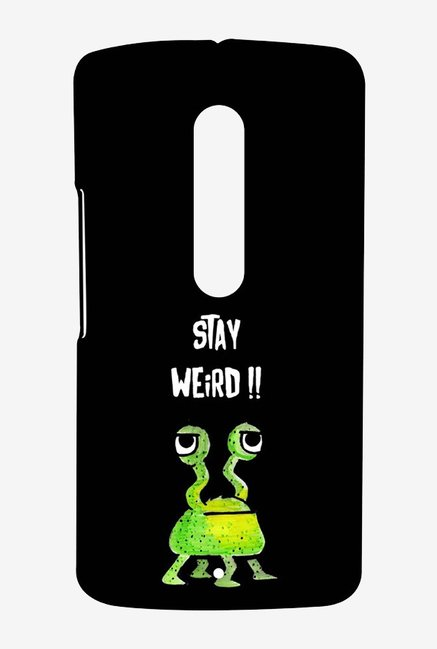 Kritzels Stay Weird Black Case for Moto X Play