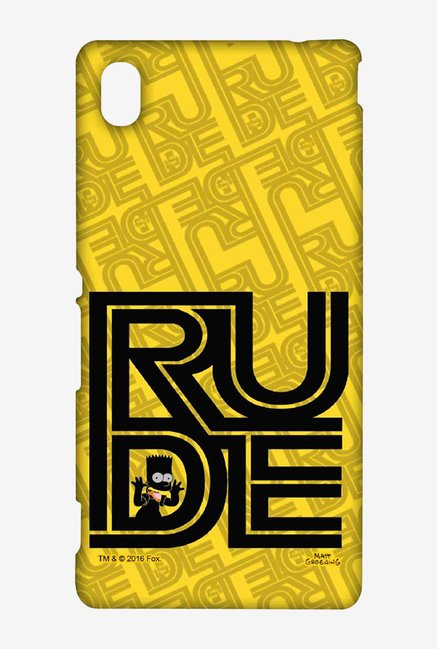 Simpsons Rude Case for Sony Xperia M4