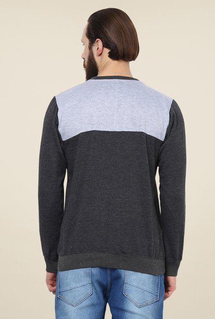 Yepme Dark Grey Darvin Sweatshirt