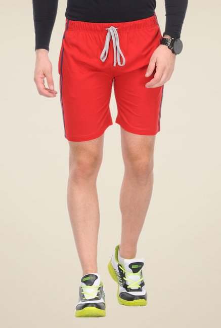 Yepme Red Solid Campbell Shorts