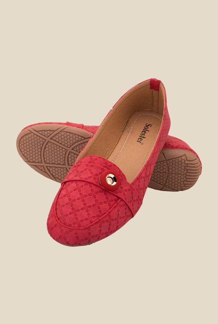 Solester Red Casual Loafers