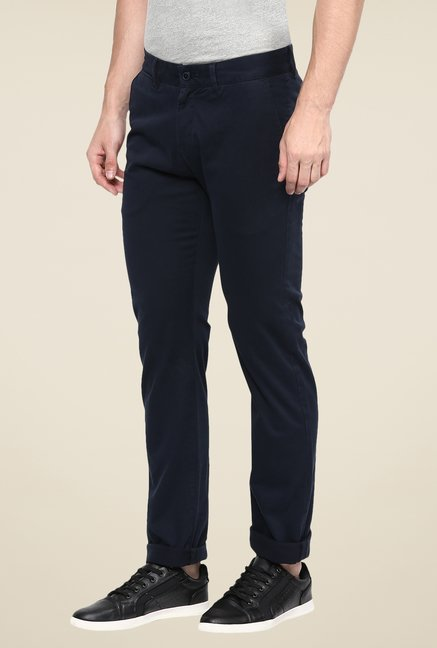 celio* Navy Solid Trousers
