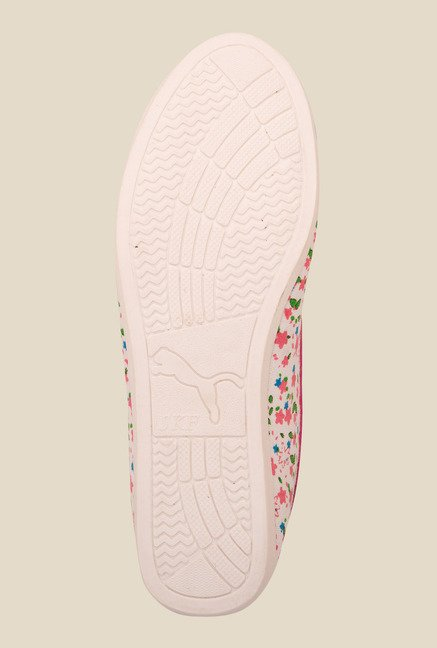 Solester White & Pink Flat Ballets
