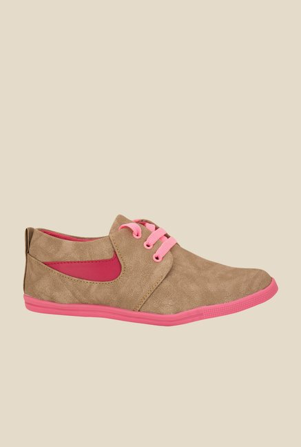 Solester Brown & Pink Sneakers