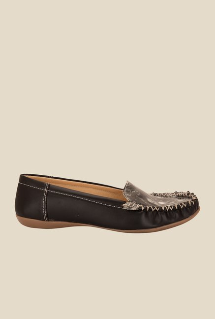 Solester Black Casual Loafers