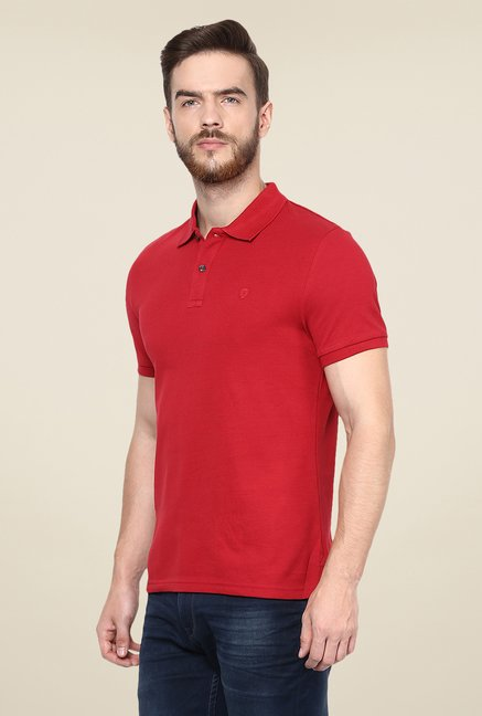 celio* Red Solid Polo T Shirt