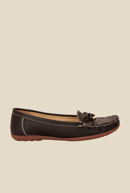 Solester Black Casual Moccasins