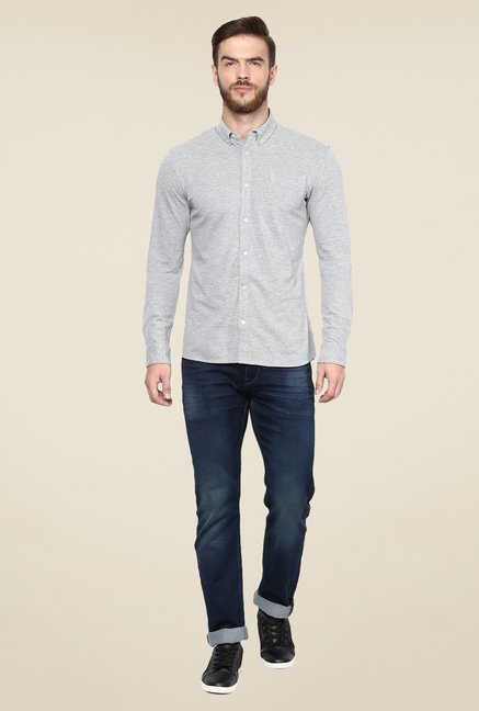celio* Grey Solid Shirt