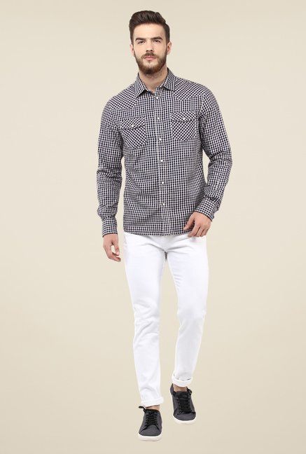 celio* Navy Checks Shirt
