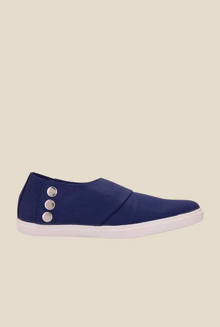 Solester Navy & White Casual Slip-Ons