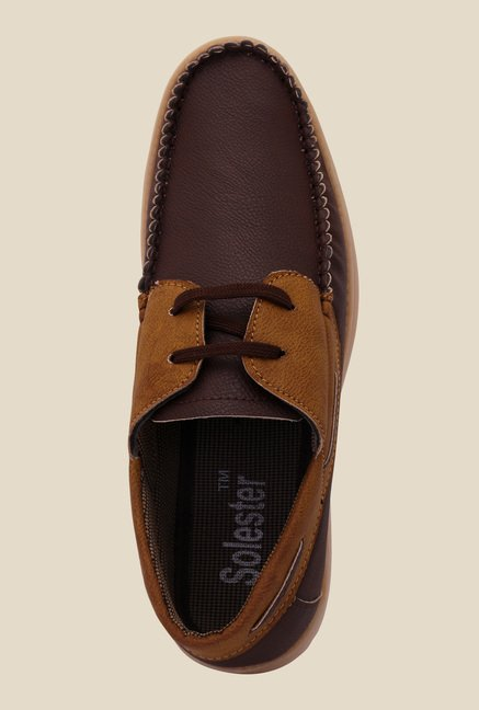 Solester Brown & Tan Boat Shoes