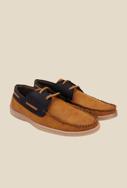 Solester Tan & Black Boat Shoes