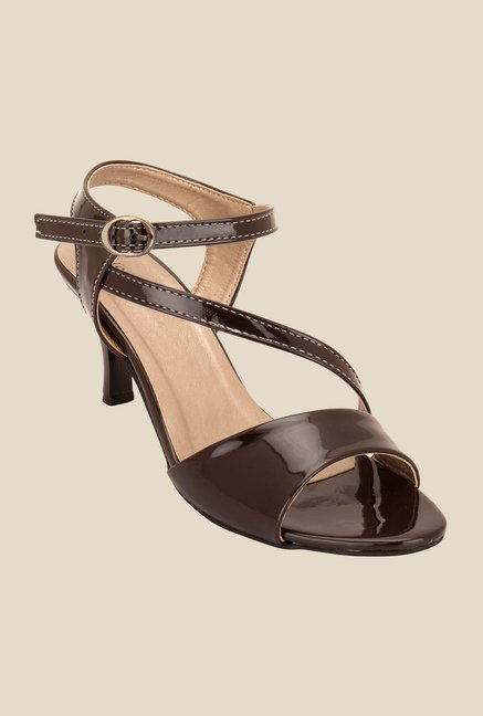 Solester Brown Ankle Strap Sandals