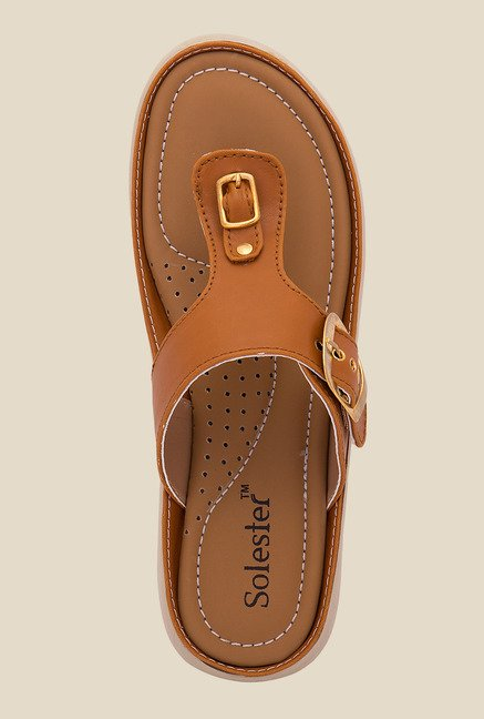 Solester Brown Thong Sandals