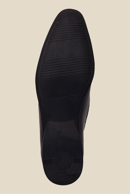 Solester Black Formal Mocassins