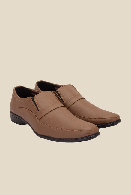 Solester Brown Formal Slip-Ons