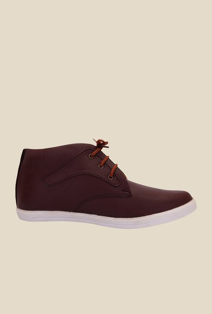 Solester Brown & White Chukka Sneakers