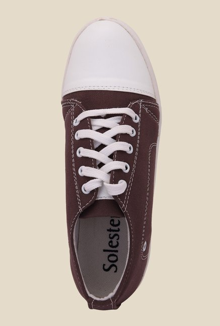 Solester Brown & White Sneakers