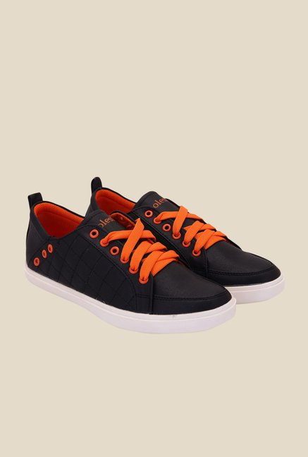 Solester Black & Orange Sneakers