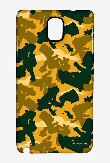 Simpsons Camo Bart Case for Samsung Note 3