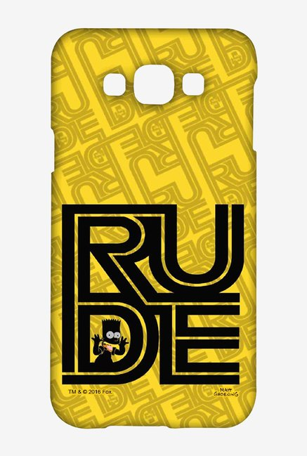 Simpsons Rude Case for Samsung Galaxy E7