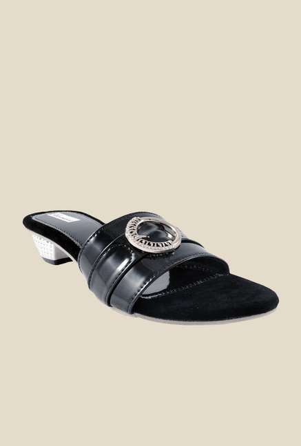 Ethnoware Black Casual Sandals