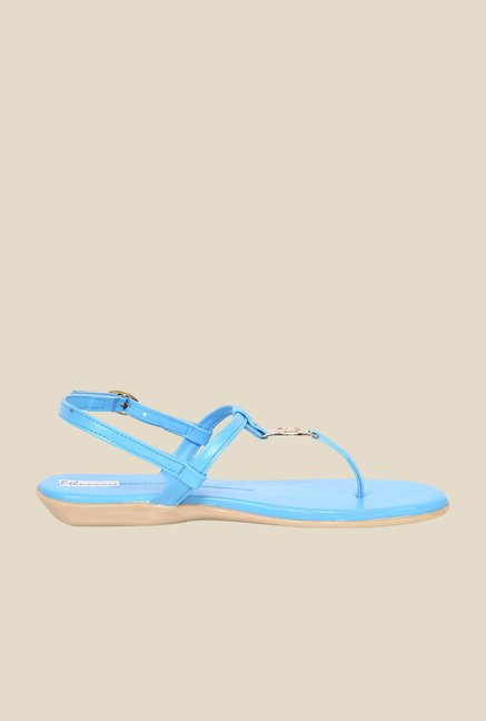 Ethnoware Blue Back Strap Sandals