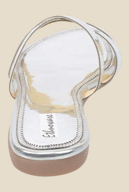 Ethnoware Silver Casual Sandals