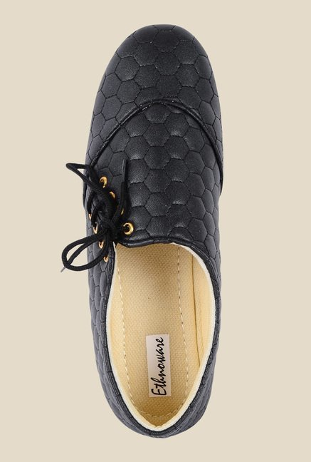 Ethnoware Black Casual Shoes