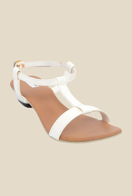 Ethnoware White Back Strap Sandals