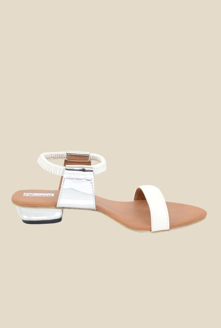 Ethnoware White Sling Back Sandals