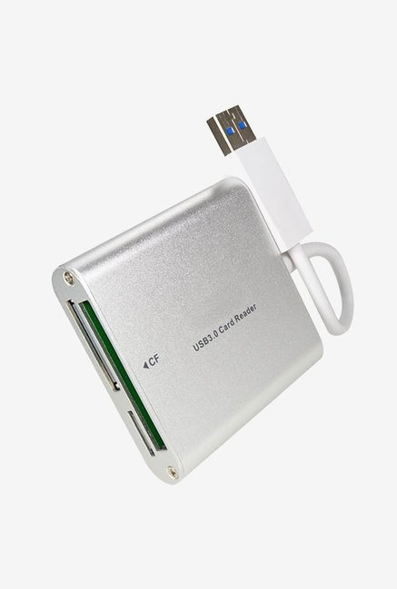 FotoTech Aluminium Super Speed USB 3.0 Card Reader (Silver)