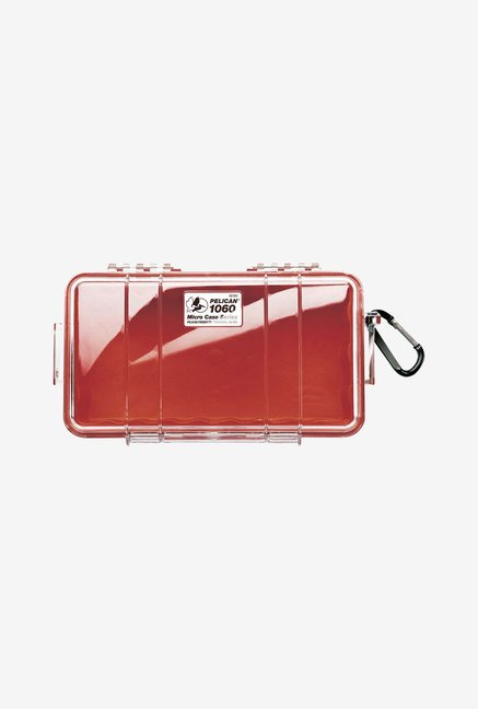 Pelican 1060 Micro Case with Clear Lid (Red)