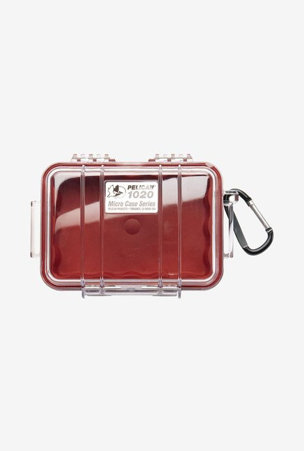 Pelican 1020 Micro Case with Clear Lid (Red)