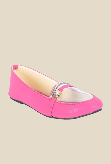 Ethnoware Magenta Pink Loafers