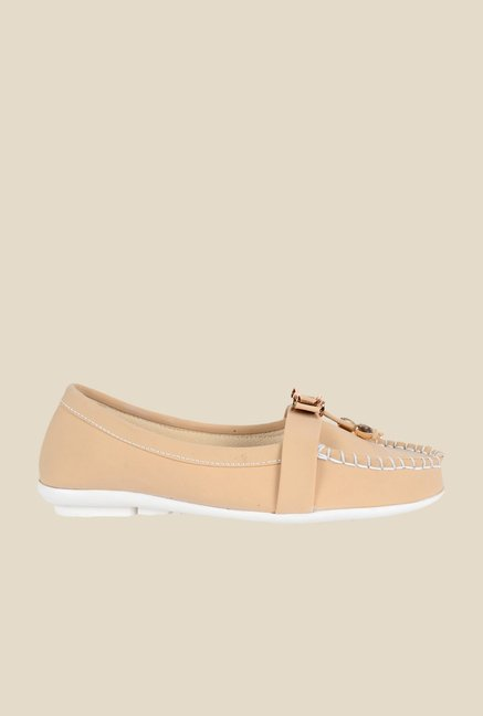 Ethnoware Beige Casual Moccasins