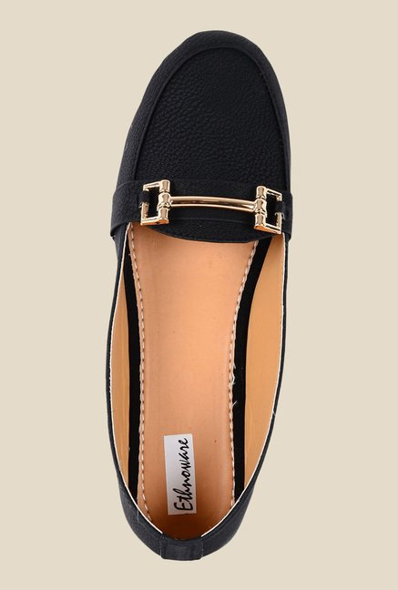 Ethnoware Black Casual Loafers