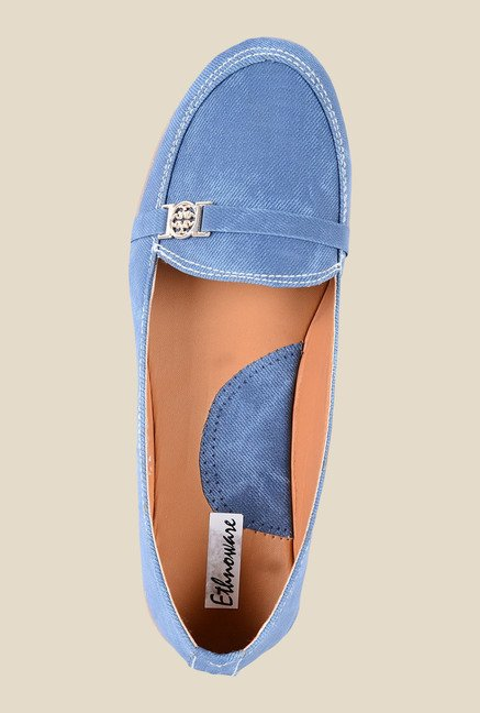 Ethnoware Blue Casual Loafers