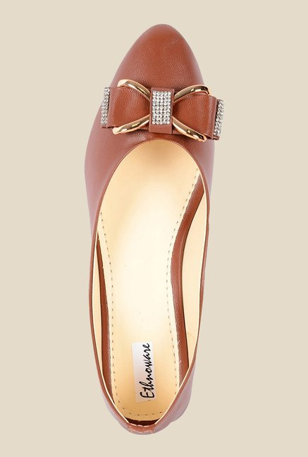 Ethnoware Brown Ballerinas